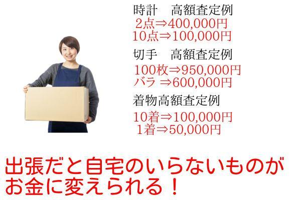 査定額0円いくらになる売値高い