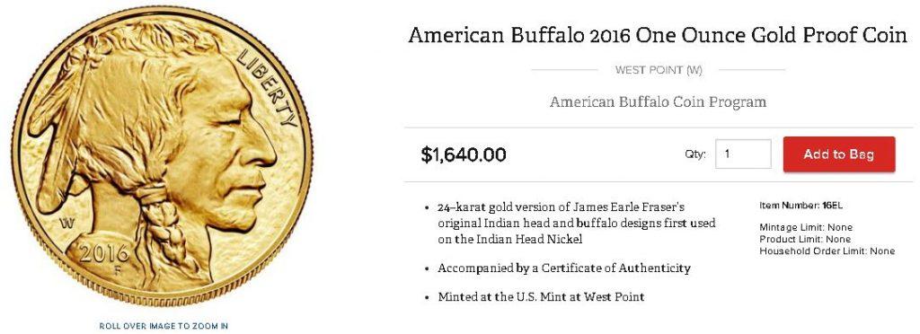 アメリカ合衆国造幣局公式サイト販売価格