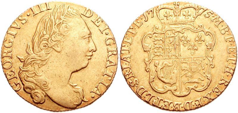 ジョージ3世のギニー金貨 1775年銘