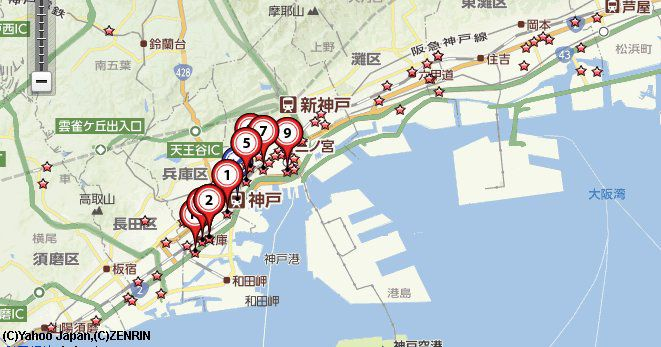 神戸買取店古銭記念硬貨地図