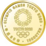 東京2020オリンピック競技大会記念一万円金貨裏
