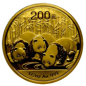 パンダ金貨200元1オンス