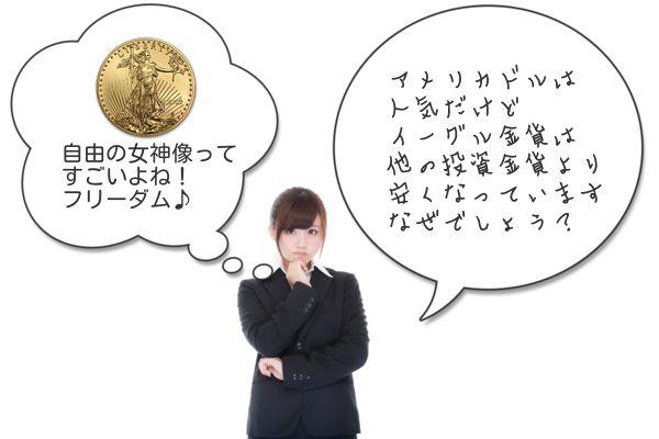 イーグル金貨価値いくら?