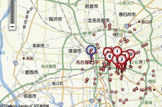 名古屋買取会社地図