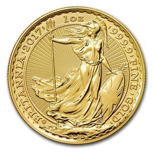 イギリス地金型金貨ブリタニア金貨