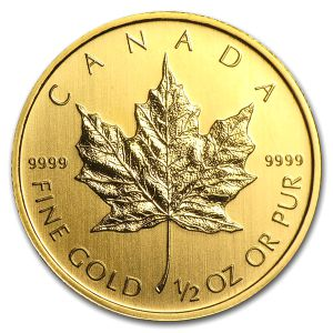 カナダ地金型金貨メイプルリーフ金貨