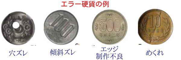 エラーコイン種類例サンプル